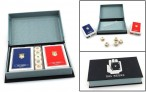 Trendy Dal Negro Playing Cards Box Mazzi, black coloured, with playing cards