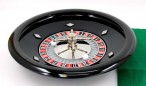 Deluxe Bakelite Roulette Set with 12 inch roulette wheel, cloth, rake, chips