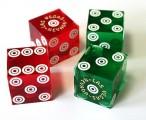 Casino Präzisionswürfel Paar, 2 Stück ohne Seriennummer