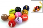 10 piece set of high grade engraved Obut Boules Jack, brilliancy lacquered