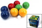 Boccia Set with 8 wooden balls for 4 players (made in Italy), 100 mm, boxed