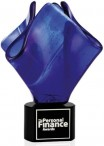 Cobalt Bloom - Artglass Trophie - glass Trophy