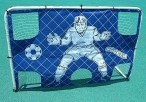 Big Size Soccer Trainer Goal with goal wall and metal tube click system