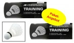2 piece package of White badmintonball slow for training (2 x 3 pieces)