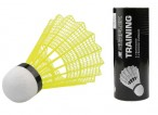 Yellow badmintonball slow for training (3 pieces)