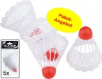 5 pieces of Game Badmintonball with rubber tip (5 x 4 pieces)
