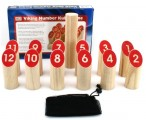 Number Kubb - the great alternate Kubb outdoor fun made of birchwood