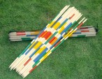 Giant Mikado game from bamboo