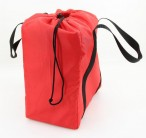 Red bag for Kubb game, for quick stowage