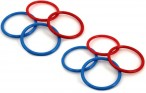 8 replacement rings for ring throw play, Made in Italy