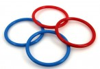 4 replacement rings for ring throw play, Made in Italy