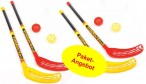 FunHockey Floorball XL Set for 4 players with 4 bats and 4 balls