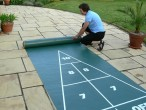 Shuffleboard Mini Roll Out Court Set, komplettes Spiel Bild 2