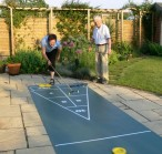 Shuffleboard Mini Roll Out Court Set, komplettes Spiel Bild 5