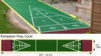Shuffleboard Euro Court, without Equipment
