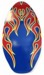 Skimboard BLUE FLAMES - wooden skimmer in high quality Image 2