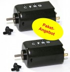 2 piece package of Slotdevil 5018 black Motor 18D, approx. 18000 rpm
