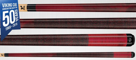 Viking Cues A221 Black Cherry Stain Pool Billard Queue, Billardqueue Made in USA