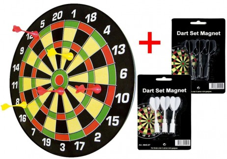 Family Magnetic Dartboard Set incl. Magnetic darts + 2 set extra darts