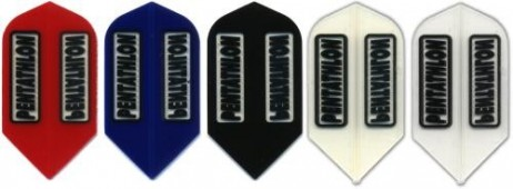 Pentathlon Slim transparent Dart Flights, 3er Set