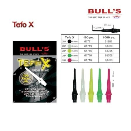 Bull's Tefo X Soft Tips, Dart Spitzen 6 mm