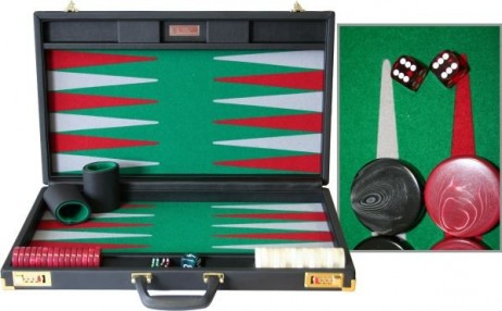 DOUBLE SIX 05 Backgammon, hand made - Made in Germany by FTH