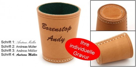 Ludomax Exclusiv dice cup, made in Germany with engraving, idea for gift