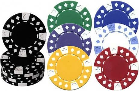 SUITED & DIAMONDS, 2- tone Poker Chips