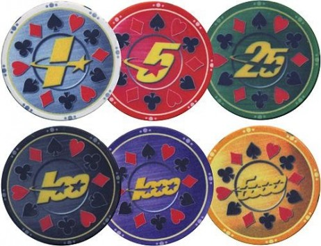 Full Ceramic Pokerchips SUITS and STARS