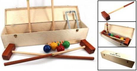Croquet Semi Pro Luxury Edition for 4 players in ornamental wooden box