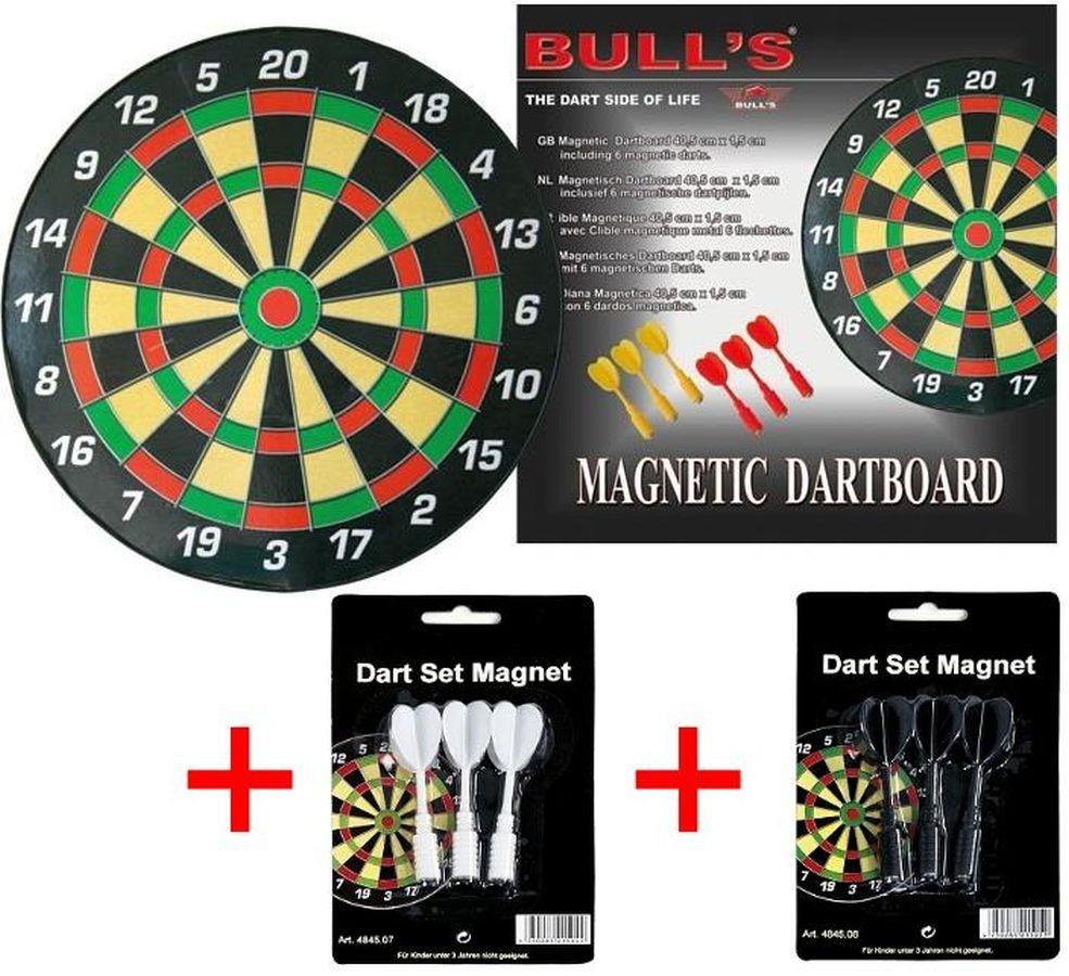 Magnetic Dartboard Magnet Dartscheibe + 2 Set Zusatz Pfeile