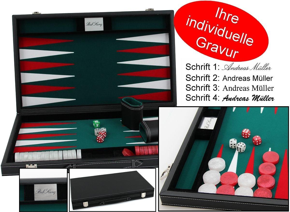 backgammon koffer medium edle ausf hrung mit gravur die geschenk idee klassische spiele. Black Bedroom Furniture Sets. Home Design Ideas