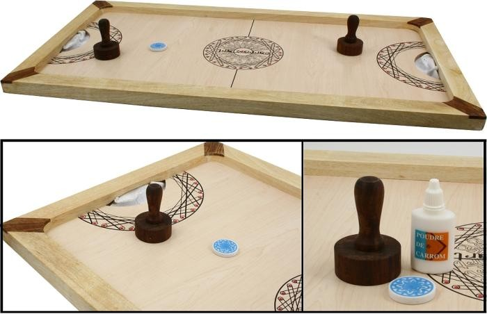 Ritterburg Holz Universe Of Imagination ~ CARROM ART  Shuffle Puck  Airhockey  Variante aus massivem Holz