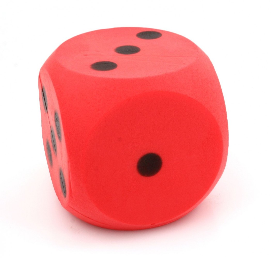 Giant Red Foam Dice Dice With 15 Cm Edge Classic Games