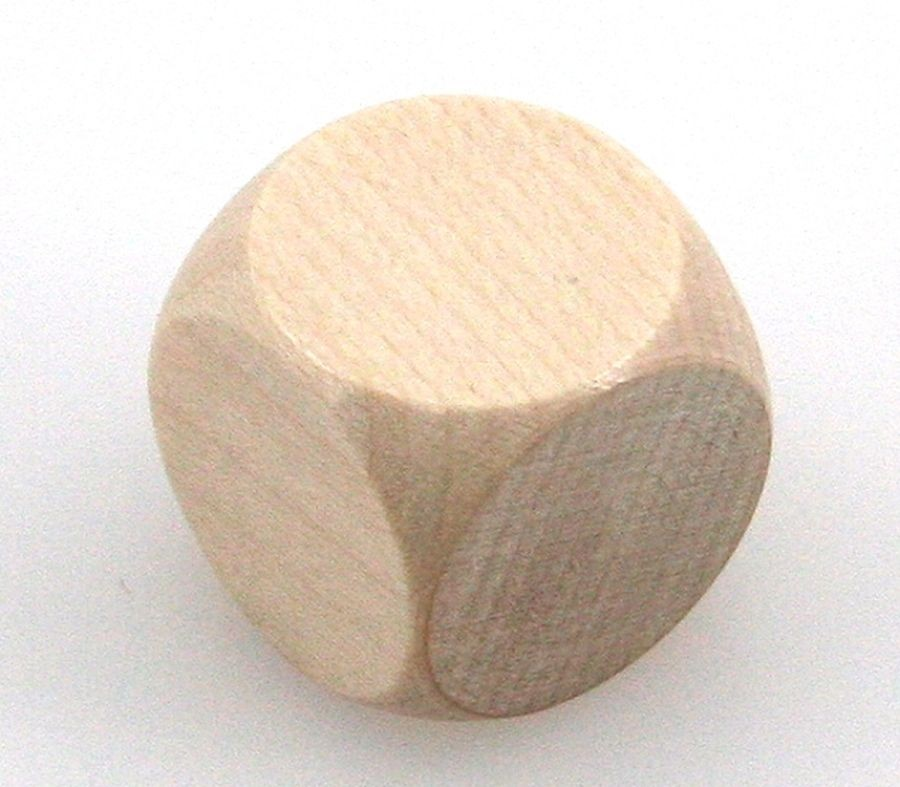 Holzwürfel Rohling, unbedruckt, 20 mm