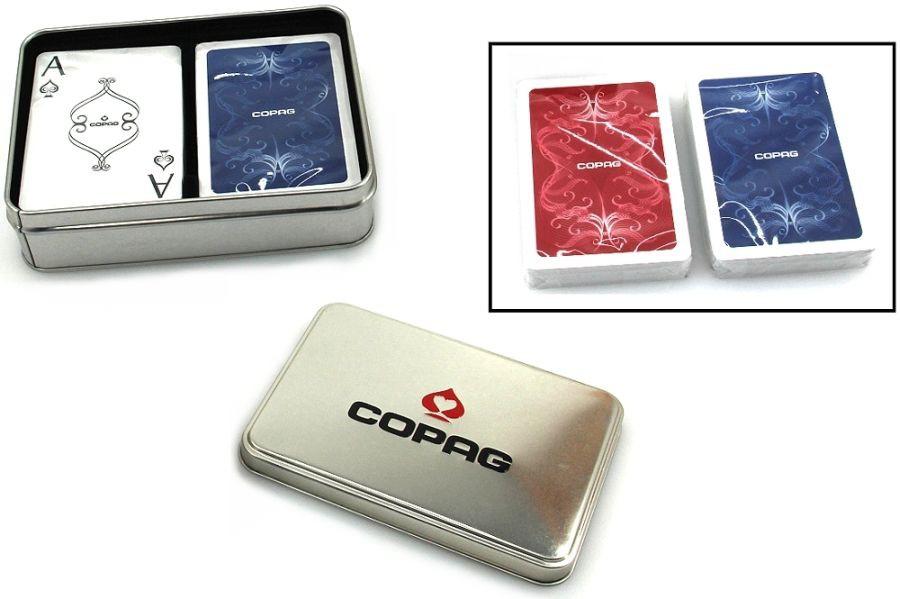 CENTENNIAL Design Spielkarten, Doppeldeck in Blech -Box