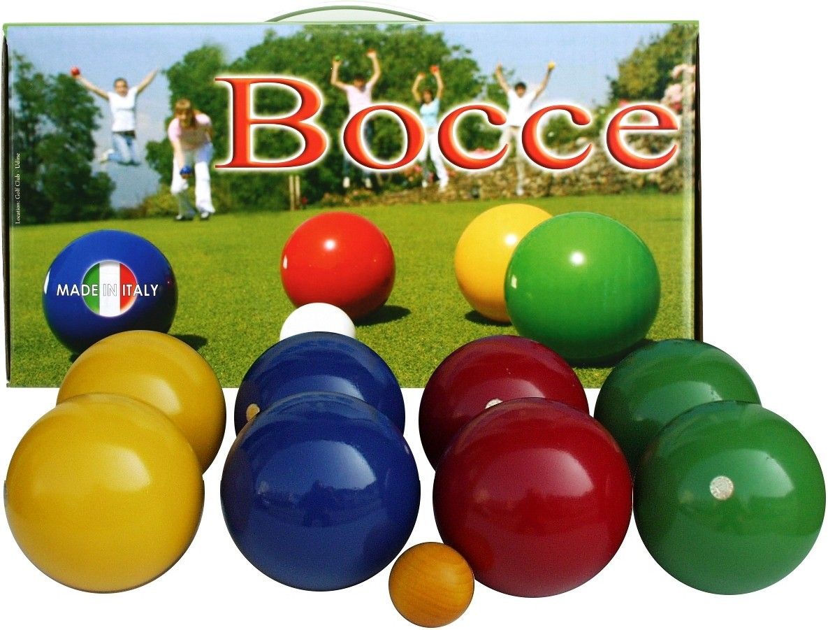 boccia set made in italy 100 mm boule boccia boccia sets balls. Black Bedroom Furniture Sets. Home Design Ideas