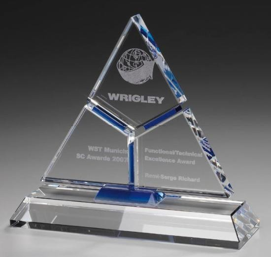 Puzzle Pyramid Cristal Glass Trophy Cups Trophy