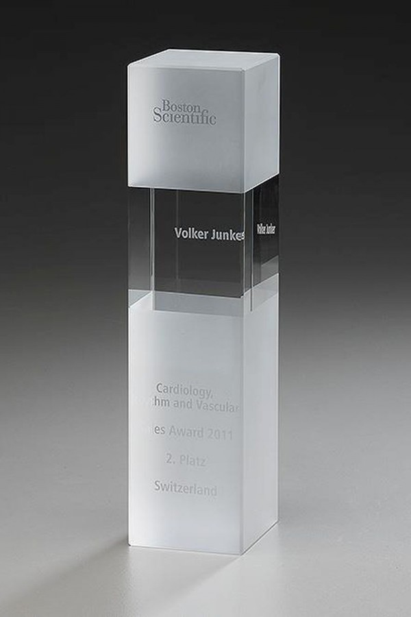 Crystal Ice Cubix, Kristall Glas - Trophäe, 240mm