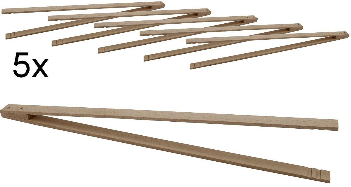 5er pack grillzange ludomax pro extra lang buchen holz 50. Black Bedroom Furniture Sets. Home Design Ideas
