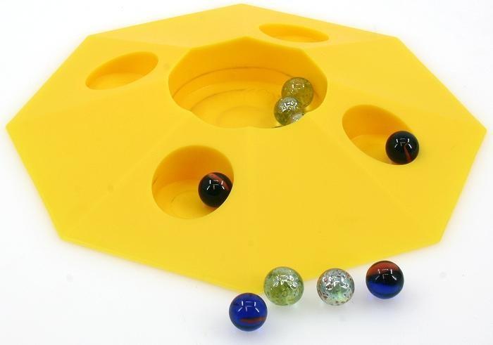 Großer Murmel Pot mit 10 Murmeln Klicker Spiel