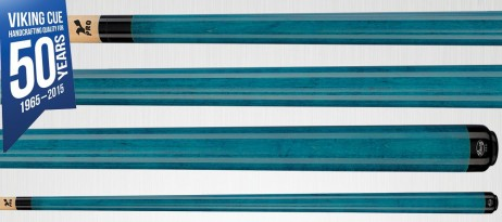 A202 Teal Stain Viking Cues - Finest Pool Cues Made in America, blue