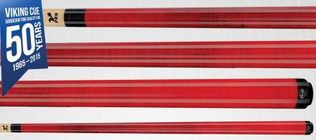 A207 Crimson Stain Viking Cue - Finest Pool Cues Made in America