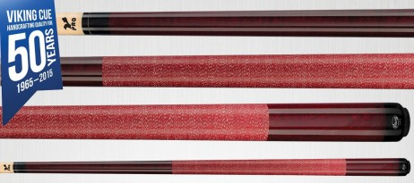 A222 Bordeaux Stain Viking Cue - Finest Pool Cues Made in America