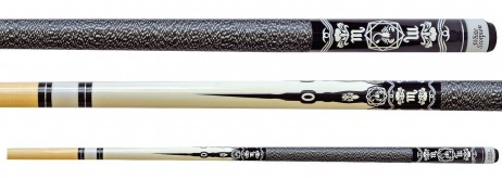 White Scorpion - trendy Cue made from maple with Tattoo design with engravement