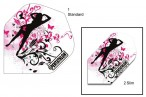 Pentathlon Flights Pink Edition Black Lady Design dart flights, 3 piece set