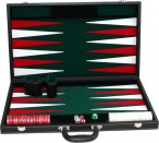 leatherette backgammon case large - green field Image 2