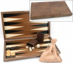 Dal Negro Nuovo Noce, Backgammon made from walnut  with maple inlays