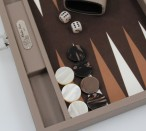 Backgammon BUFFALO B20L  Terre Medium, Alcantara playground, Hector Saxe, Paris Image 2