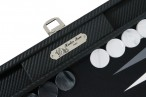 Backgammon CARBONE B21L Noire Medium, Alcantara playground, Hector Saxe, Paris Image 2